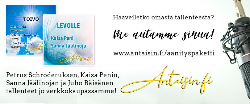 Haaveiletko omasta tallenteesta? Antaisin.fi