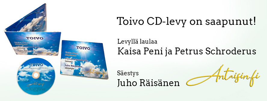 Toivo CD-levy on saapunut - Kaisa Peni, Petrus Schroderus ja Juho Räisänen